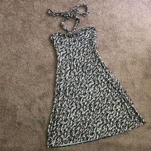 Ann Taylor Camo Print Knit Halter Dress XS